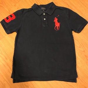 Blue Big Pony Ralph Lauren shirt size M 10-12